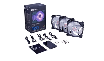 Picture of MasterFan Pro 120 Air Pressure RGB 3 in 1 with RGB LED Controller